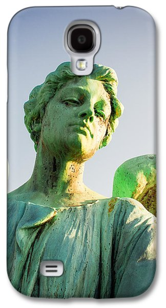 Memphis Elmwood Cemetery - Patinated Angel Galaxy S4 Case by Jon Woodhams