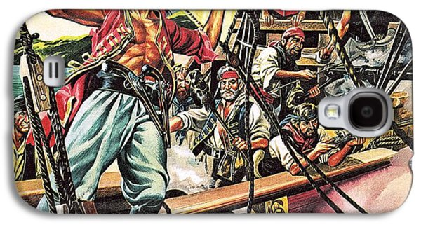 Men Of The Jolly Roger Galaxy S4 Case by Ron Embleton