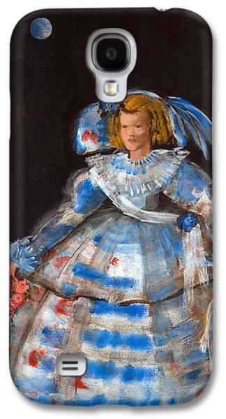 Menina With Blue Moon Oil & Acrylic On Canvas Galaxy S4 Case