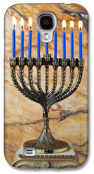 Menorah With Blue Candles Galaxy S4 Case