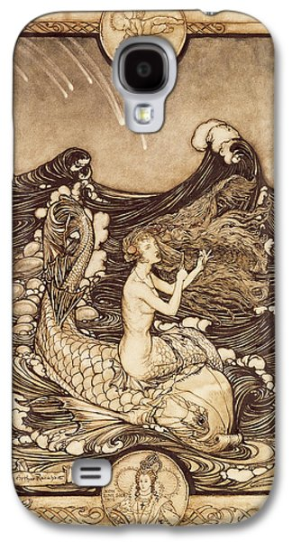 Mermaid And Dolphin From A Midsummer Nights Dream Galaxy S4 Case by Arthur Rackham