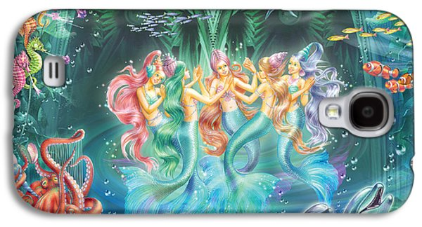 Mermaids Danicing Galaxy S4 Case by Zorina Baldescu