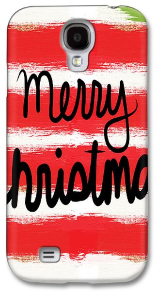 Merry Christmas- Greeting Card Galaxy S4 Case by Linda Woods