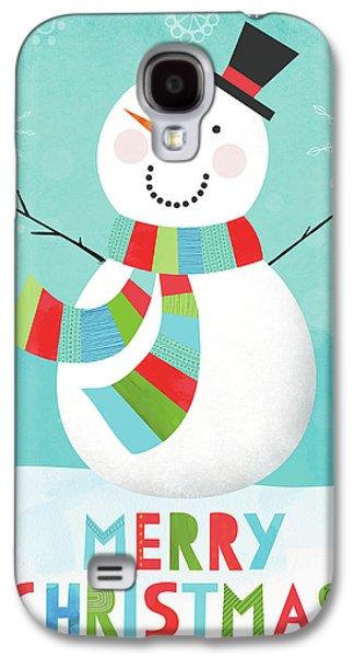 Merry Snowman IIi Galaxy S4 Case by Lamai Mccartan