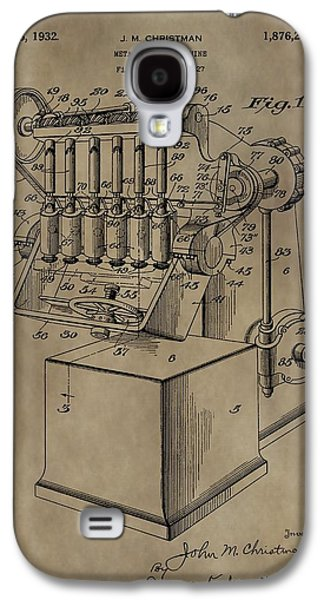 Metal Working Machine Patent Galaxy S4 Case by Dan Sproul
