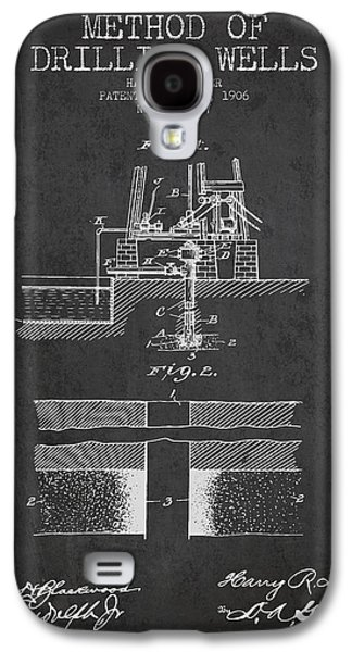 Method Of Drilling Wells Patent From 1906 - Dark Galaxy S4 Case by Aged Pixel