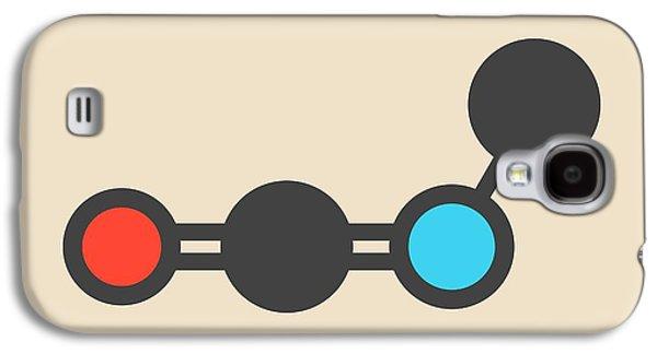 Methylisocyanate Molecule Galaxy S4 Case by Molekuul