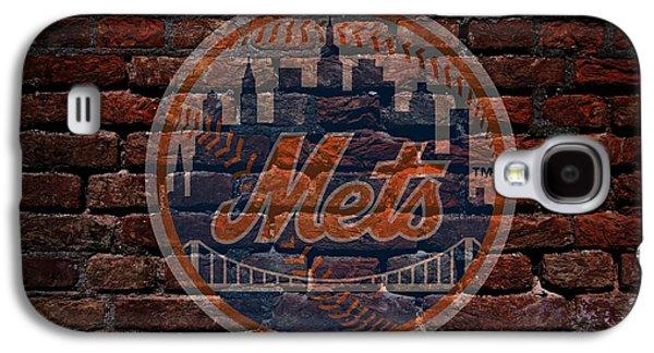 Mets Baseball Graffiti On Brick  Galaxy S4 Case
