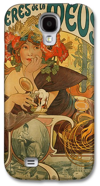 Meuse Beer Galaxy S4 Case by Alphonse Marie Mucha