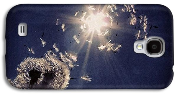 Blue Galaxy S4 Case - #mgmarts #dandelion #wish #makeawish by Marianna Mills