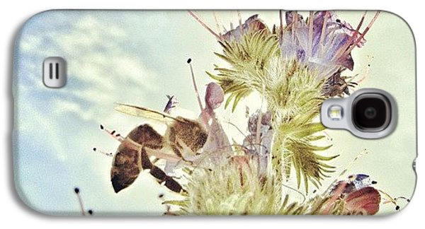 Sky Galaxy S4 Case - #mgmarts #flower #spring #summer #bee by Marianna Mills