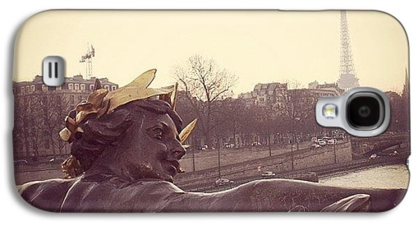 Architecture Galaxy S4 Case - #mgmarts #france #paris #statue #bridge by Marianna Mills