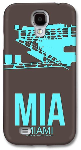 Mia Miami Airport Poster 2 Galaxy S4 Case by Naxart Studio