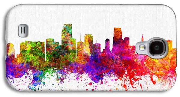 Miami Florida Skyline Galaxy S4 Case by Aged Pixel