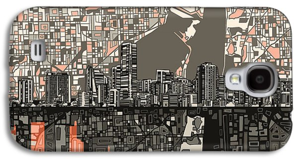 Miami Skyline Abstract 2 Galaxy S4 Case
