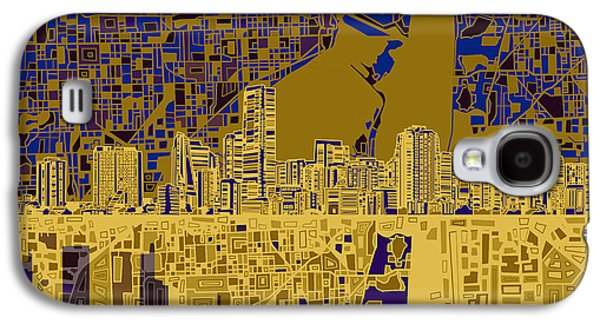 Miami Skyline Abstract 3 Galaxy S4 Case