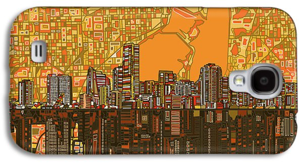 Miami Skyline Abstract 5 Galaxy S4 Case