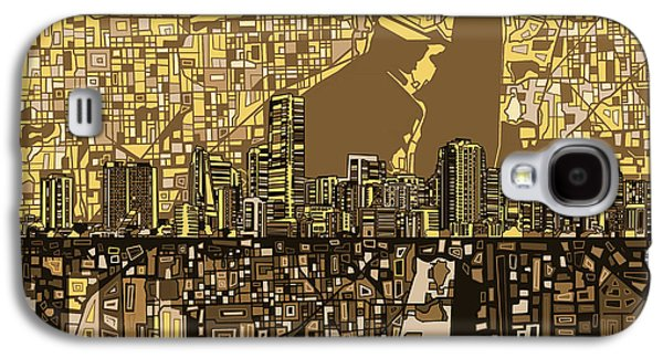 Miami Skyline Abstract 6 Galaxy S4 Case