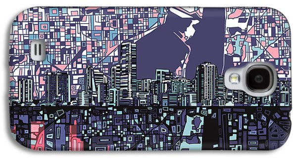 Miami Skyline Abstract Galaxy S4 Case
