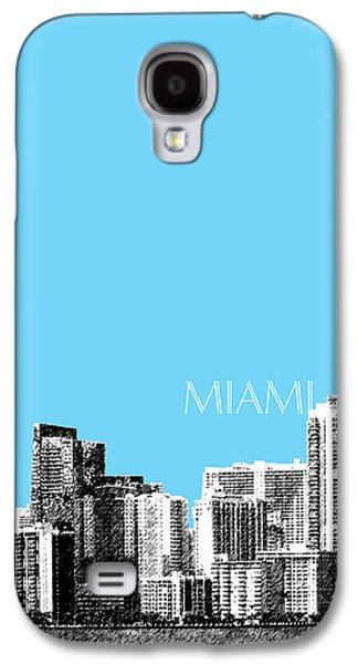 Miami Skyline - Sky Blue Galaxy S4 Case by DB Artist