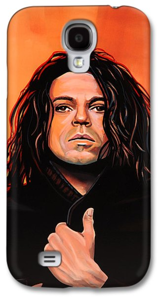 Michael Hutchence Painting Galaxy S4 Case by Paul Meijering
