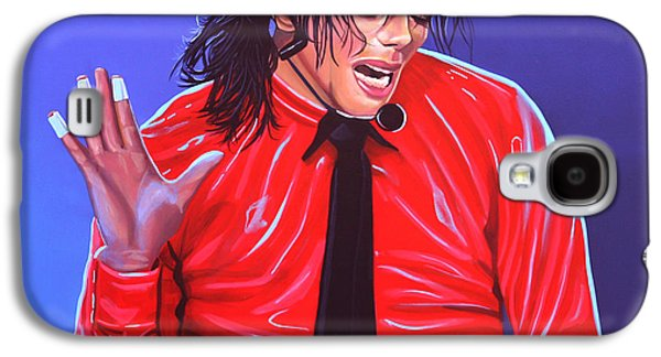 Michael Jackson Paintings Galaxy S4 Cases - Michael Jackson 2 Galaxy S4 Case by Paul  Meijering
