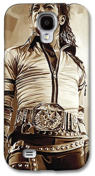 Michael Jackson Artwork 2 Galaxy S4 Case by Sheraz A