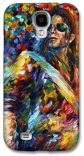 Michael Jackson - Palette Knife Oil Painting On Canvas By Leonid Afremov Galaxy S4 Case