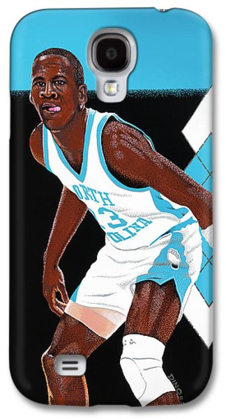 Michael Jordan Carolina Blues Galaxy S4 Case by Dino Murphy