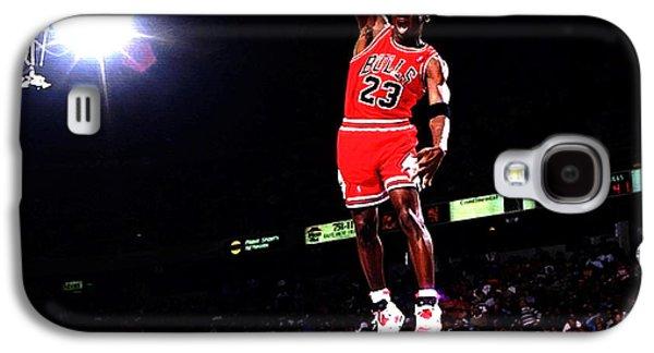 Michael Jordan Fast Break Galaxy S4 Case by Brian Reaves