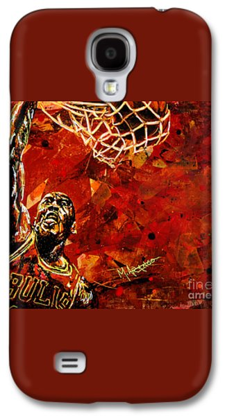 Michael Jordan Galaxy S4 Case by Maria Arango