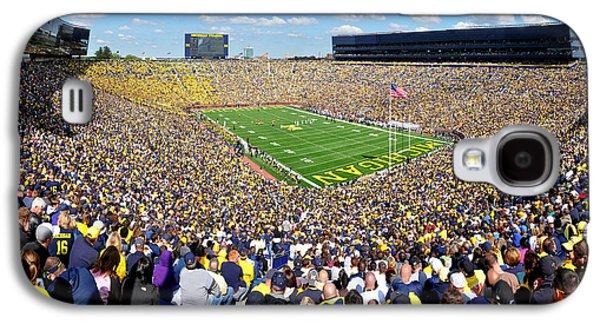 University Of Michigan Galaxy S4 Case - Michigan Stadium - Wolverines by Georgia Fowler