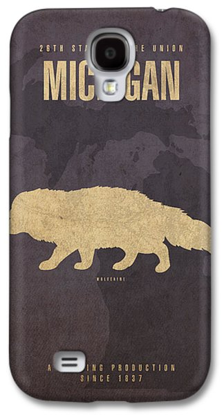 Michigan State Facts Minimalist Movie Poster Art  Galaxy S4 Case