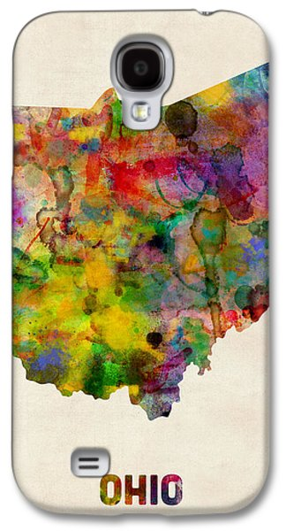 Ohio Watercolor Map Galaxy S4 Case by Michael Tompsett