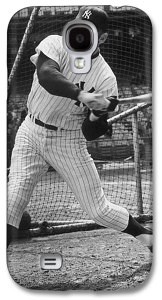 Mickey Mantle Poster Galaxy S4 Case by Gianfranco Weiss