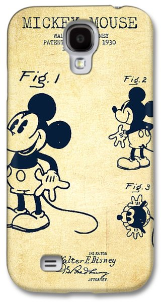 Mickey Mouse Patent Drawing From 1930 - Vintage Galaxy S4 Case by Aged Pixel