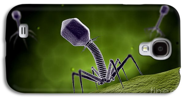 Microscopic View Of Bacteriophage Galaxy S4 Case by Stocktrek Images