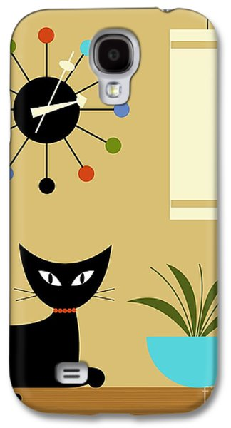 Mid Century Ball Clock 2 Galaxy S4 Case by Donna Mibus