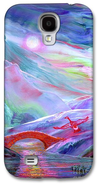 Geese Galaxy S4 Case -   Midnight Silence, Flying Goose by Jane Small