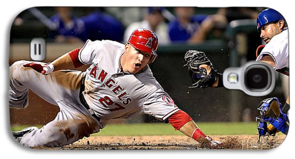 Mike Trout Galaxy S4 Case by Marvin Blaine