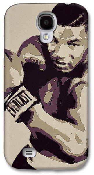 Mike Tyson Poster Art Galaxy S4 Case by Florian Rodarte