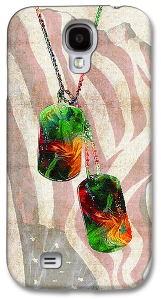 Military Art Dog Tags - Honor 2 - By Sharon Cummings Galaxy S4 Case by Sharon Cummings