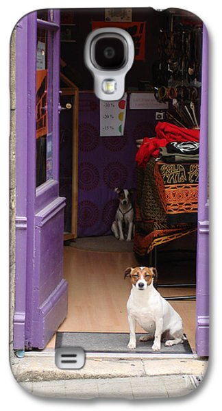 Minding The Shop. Two French Dogs In Boutique Galaxy S4 Case