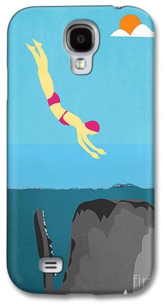 Minimal Sea Life  Galaxy S4 Case by Mark Ashkenazi