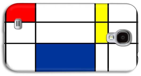 Minimalist Mondrian Galaxy S4 Case by Celestial Images