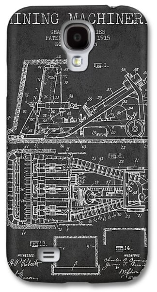 Mining Machinery Patent From 1915- Charcoal Galaxy S4 Case