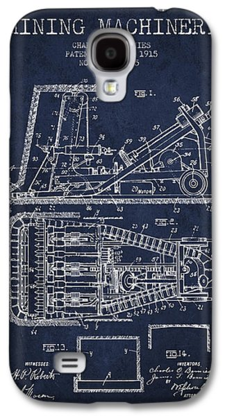 Mining Machinery Patent From 1915- Navy Blue Galaxy S4 Case