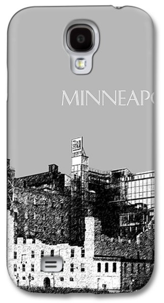 Minneapolis Skyline Mill City Museum - Silver Galaxy S4 Case by DB Artist
