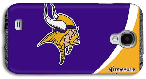 Minnesota Vikings Galaxy S4 Case by Joe Hamilton