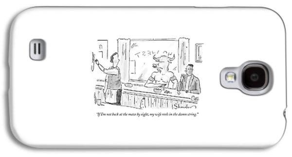 Minotaur At Bar Talking To Bartender Reaching Galaxy S4 Case by Danny Shanahan